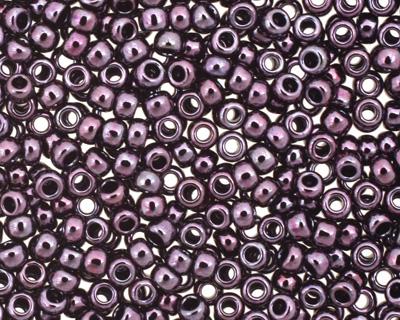 TOHO Metallic Amethyst Gun Metal Round 15/0 Seed Bead