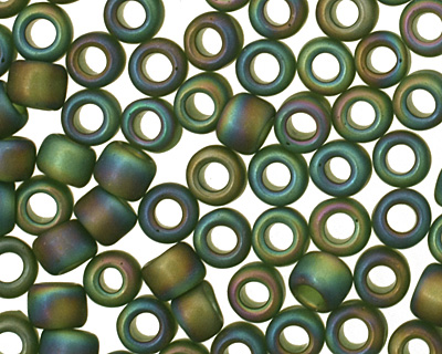 TOHO Transparent Rainbow Frosted Olivine Round 8/0 Seed Bead