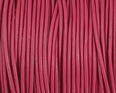 Cyclamen Round Leather Cord 1.5mm