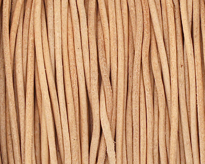 Natural Round Leather Cord 1.5mm