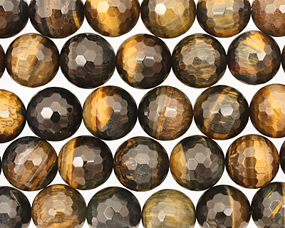 Blue Tiger Eye Faceted Round 18mm