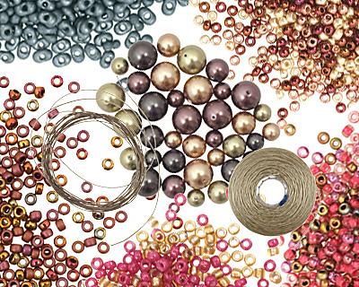 Glass Garden Black Berry Necklace Kit