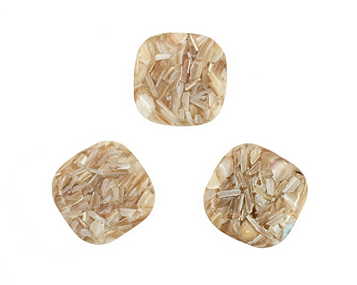 Shell Mosaic (champagne) Puff Square 30mm