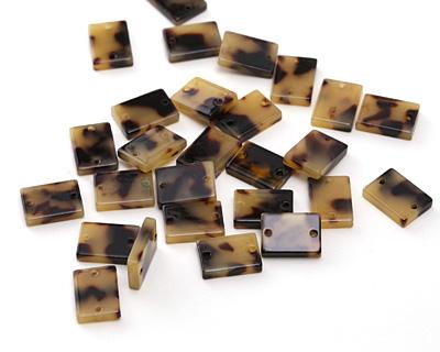 Zola Elements Light Tortoise Shell Acetate Rectangle Link 14x10mm