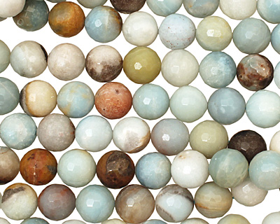 Black Gold Amazonite Faceted Round 14mm