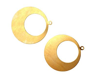 Brass Gypsy Hoop Blank 38x42mm