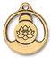 TierraCast Antique Gold (plated) Openwork Buddha Pendant 21x24mm