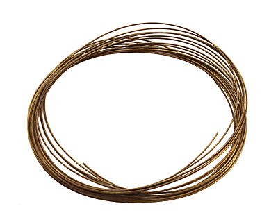Memory Wire Antique Brass (plated) Large Oval Bracelet .35 oz.