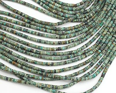 African Turquoise Heishi 4mm