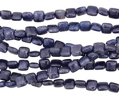 Blue Water Jasper Puff Square 8mm