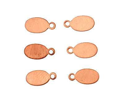 Copper Oval Blank Tag 5x11mm