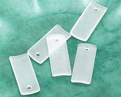 Crystal Recycled Glass Bottle Curve Rectangle 14x35mm