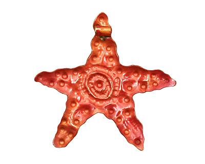 Patricia Healey Copper Starfish w/ Spiral Pendant 76-78mm