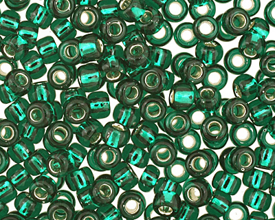 TOHO Green Emerald (with Silver Lining) Round 11/0 Seed Bead