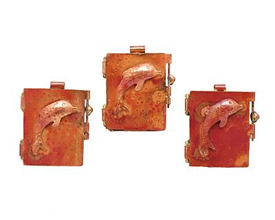 Patricia Healey Copper Dolphin Locket 39x44mm
