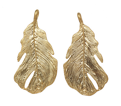Ezel Findings Gold (plated) Feather Link 45x22mm