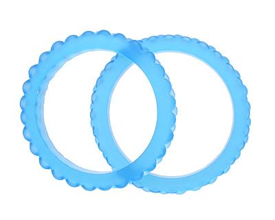 Trinket Foundry True Blue Fancy Glass Ring 50-62mm