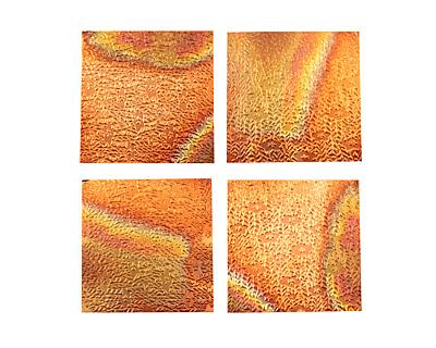 Lillypilly Flamed Flower Garden Patina Copper Sheet 3