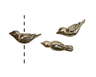 Green Girl Pewter Sparrow 27x7mm