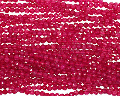 Ruby Red Agate Faceted Round 4mm
