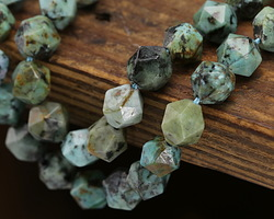 African Turquoise Star Cut Round 10mm
