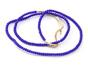 African Trade Beads Cobalt White Heart Glass 2-3mm