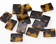 Zola Elements Tortoise Shell Acetate Rectangle Link 14x10mm