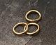 Gold (plated) Soldered Jump Ring 8mm, 18 gauge