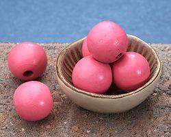 Pink Grapefruit Wood Round 20mm