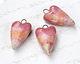 Gaea Ceramic Pink Ombré Heart Pendant 17x31-32mm