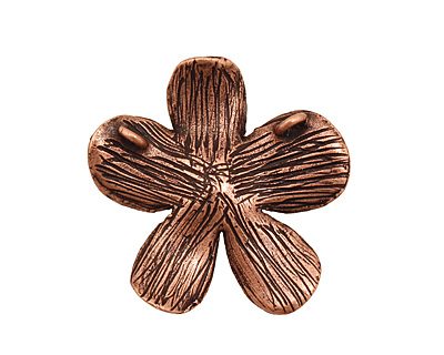 Ezel Findings Antique Copper 5 Petal Flower Link 27mm