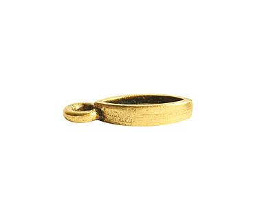 Nunn Design Antique Gold (plated) Bitsy Navette Bezel Charm 5.5x14mm