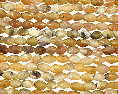 Yellow Opal Faceted Nuggets (dark) 10-16x8-11mm