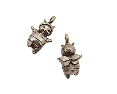 Green Girl Pewter Baby Bee Boy 14x25mm