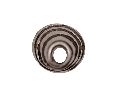 Antique Silver (plated) Small Spiral Cone 17x6mm
