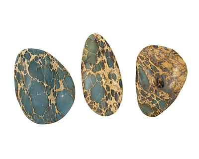 Blue Impression Jasper Freeform Cabochon 25-33x16-26mm