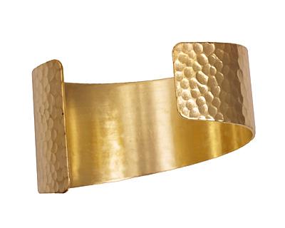 Brass Hammered Cuff 64x36mm