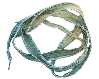 Spring Fling Hand Dyed 100% Silk Ribbon 1/2