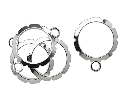 Artistic Wire Silver (plated) Round Wrapper 28x34mm