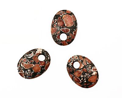 Shell Mosaic Oval Pendant 27x36mm