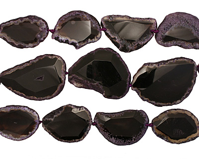 Eggplant Agate Natural Edge Freeform Faceted Slab 57-70x35-70mm