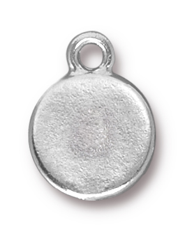 TierraCast Rhodium (plated) Stepped Bezel Drop w/ Siam Ruby Crystal 12x17mm
