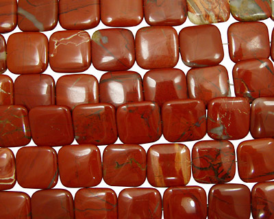 Red Jasper Puff Square 30mm