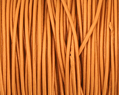 Dusty Brown (metallic) Round Leather Cord 1.5mm