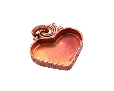 Patricia Healey Copper Small Heart Bezel Pendant 26x29mm