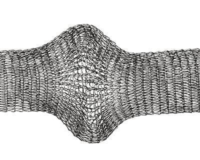Artistic Wire Hematite Mesh 18mm, 1 meter