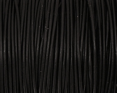 Black Round Leather Cord 1.5mm