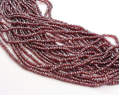 Mystic Garnet Faceted Rondelle 3-4mm