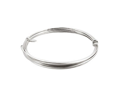 German Style Wire Silver (plated) Square 20 gauge, 2 meters