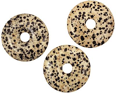 Dalmatian Jasper Donut 40mm